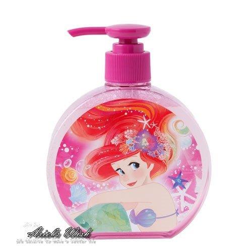 Ariel's Wish預購-日本東京Disney迪士尼愛麗兒小美人魚粉紅色夢幻海底泡泡抗菌安全保護洗手乳洗液200mL