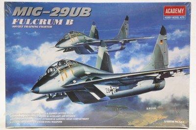 【統一模型玩具店】ACADEMY《米格29戰鬥機 MIG-29UB FULCRUM B》1:48 # 2119