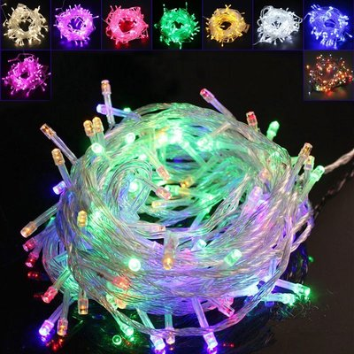 插電款可串接型聖誕燈10公尺/米100燈 LED聖誕燈 LED星星串燈 婚慶燈 夜景裝飾 節日喜慶彩燈 造景燈 華麗購