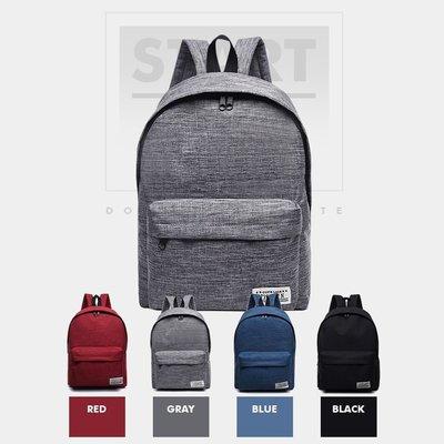 韓版 英文標籤後背包 雙肩包 後背包 帆布包 休閒背包 學院風 旅行 收納 .【RB497】