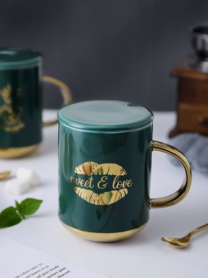 水杯 保溫杯歐式簡約陶瓷馬克杯喝咖啡的杯子ins風潮流家用男喝水杯子