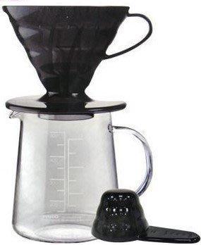 ~* 品味人生 *~ HARIO V60黑色樹脂濾杯咖啡壺組300ml ESD-01TB-EX-M 濾紙