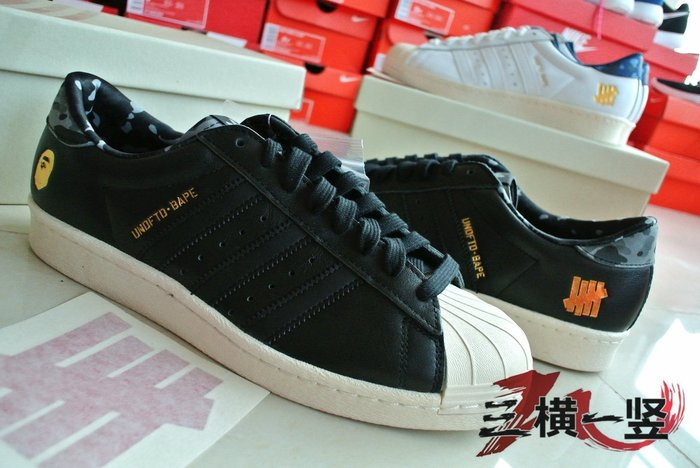 quality design 5ae01 ac1a6 三橫一竖 ADIDAS SUPERSTAR X BAPE X UNDEFEATED NMD BOOST YEEZY 黑白-Yahoo奇摩拍賣
