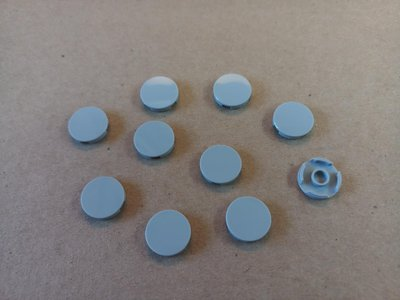 全新 Lego 散件 灰色 Flat Tile 2X2, Roundl (415002) 10pcs