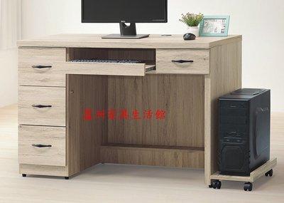 58-152  寶雅橡木4尺電腦桌(含主機架)(台北縣市包送到府免運費)【蘆洲家具生活館-5】