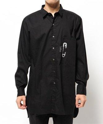 平常小姐┋2手┋日本【CABANE de ZUCCa】限量聯名JAM HOME MADE 日本製迴紋針長版襯衫ⓢ黑 男女