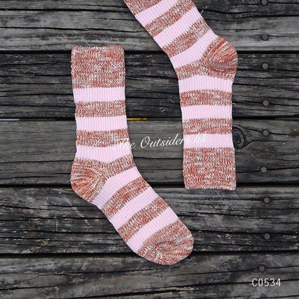 M.O.S1126 漸層 雪糕 棉長襪 繽紛彩襪 粉色 C0534 搭球鞋 好看 女款