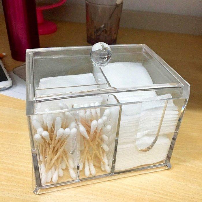 化妝盒壓克力盒 防塵卸裝棉收納盒棉簽盒 透明帶蓋化妝棉整理盒_☆找好物FINDGOODS☆