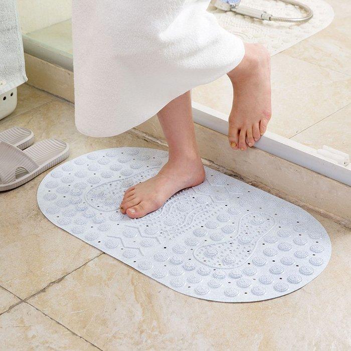 四季美浴室按摩地墊淋浴帶吸盤防滑墊衛生間廁所衛浴洗澡腳墊地毯