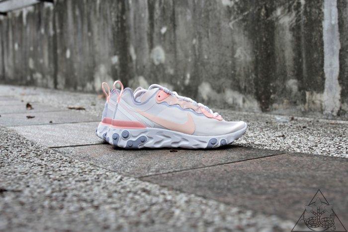 【HYDRA】Nike Wmns React Element 55 白粉 運動 休閒鞋 【BQ2728-601】