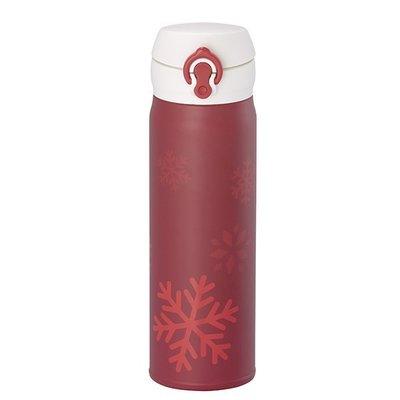星巴克 Starbucks不鏽鋼隨身瓶 2014 紅耶誕色雪花隨身瓶 膳魔師500ml 保溫瓶 雪花杯