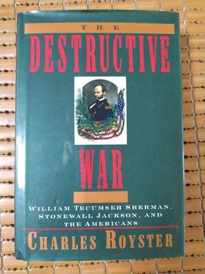 不二書店 The Destructive War 英文軍事類 美國南北戰爭 精裝  毛邊本