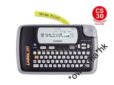 太子店 Casio KL-120 Handy Home Label Printer /casio 英文標籤機 可批發