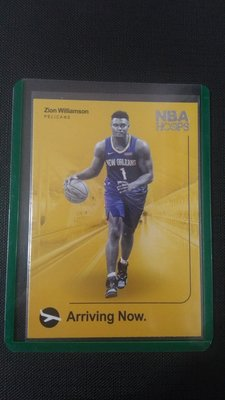 2019-20 Zion Williamson Hoops Arriving Now 鵜鶘隊 小特卡