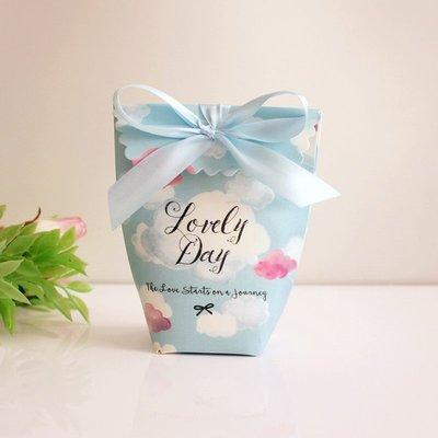 ♥晶鑽婚禮百貨♥ 雲朵喜糖盒 活動糖果盒 小禮物盒 伴娘禮 包裝盒 Candy Bar 婚禮佈置