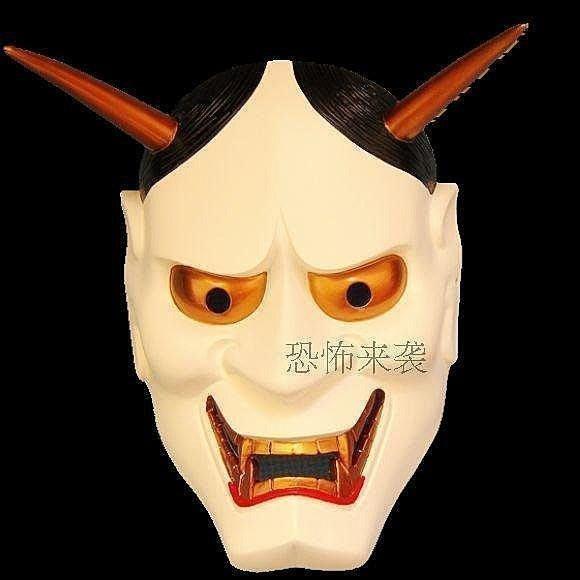 【優上精品】珍藏版刺青紋身般若主題面具 日本佛教鬼首般若工藝品面具恐怖(Z-P3188)