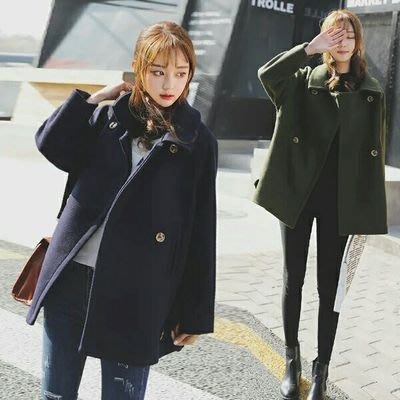 外套[Q028] 日韓版日系時尚新款毛...