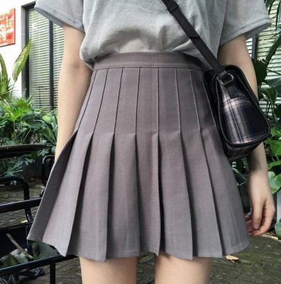 大尺碼M-4XL碼 女裝短裙 網球裙 高腰修身短裙 學院風學生半身百褶裙—莎芭