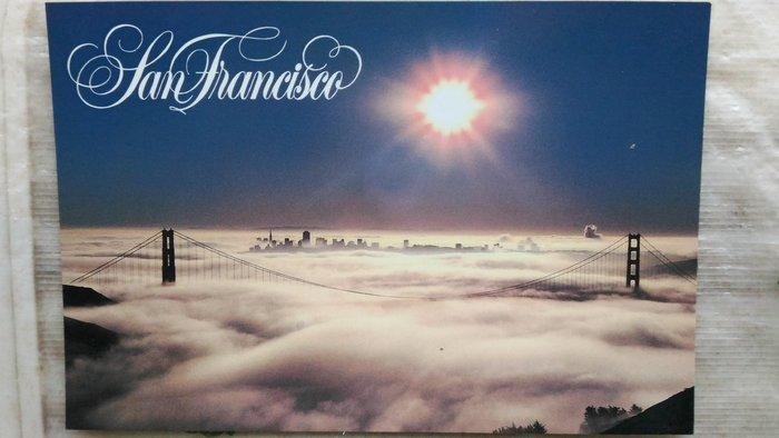 明信片  Morning fog on San Francisco Bay  【 可『 郵寄 』或『 超商取貨 』 】