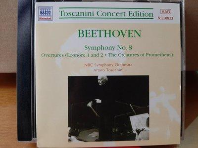 Toscanini,NBC Sym Orch,Beethoven-Sym No.8 etc,托斯卡尼尼指揮NBC交響管弦樂團,演繹貝多芬-第8號交響曲,序曲等