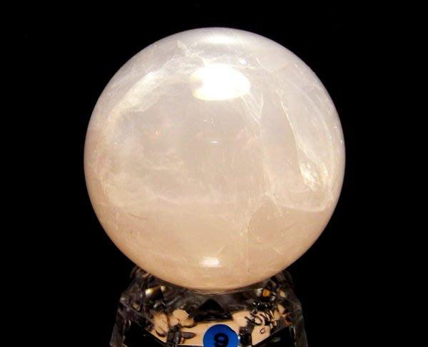 小風鈴~天然頂級冰種64mm星光粉晶球(重:366g) 增加人緣愛情!