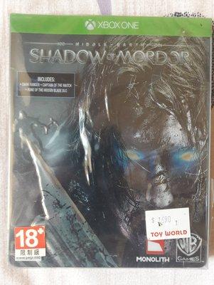 全新未拆 XBOX ONE 中土世界:魔多之影 鐵盒版 Middle-earth SHADOW OF MORDOR