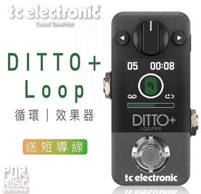 【搖滾玩家樂器】全新免運 保固 加贈短導線  TC Electronic Ditto+ Loop   樂句 循環 效果器