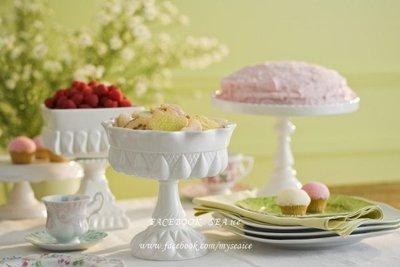 美國ROSANNA品牌進口*超美雕花流線陶瓷雕刻 BON BON FOOTED ROUND BOWL 碗形蛋糕檯座