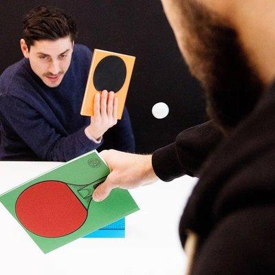 Table Tennis Notebook 可打乒乓球的筆記本 辦公室紓壓球拍 日記本記帳本 三本一組