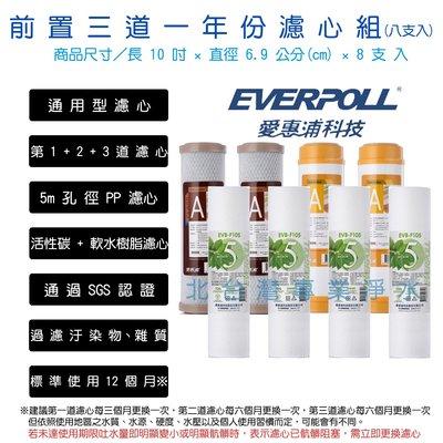 EVERPOLL 愛惠浦科技 一年份濾心 前置三道 纖維 活性碳棒 樹脂 濾心組 10吋 標準型 適用各廠牌