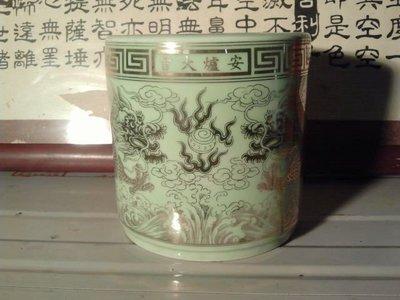 《非凡陶藝》双龍戲珠香爐(拜神明用)