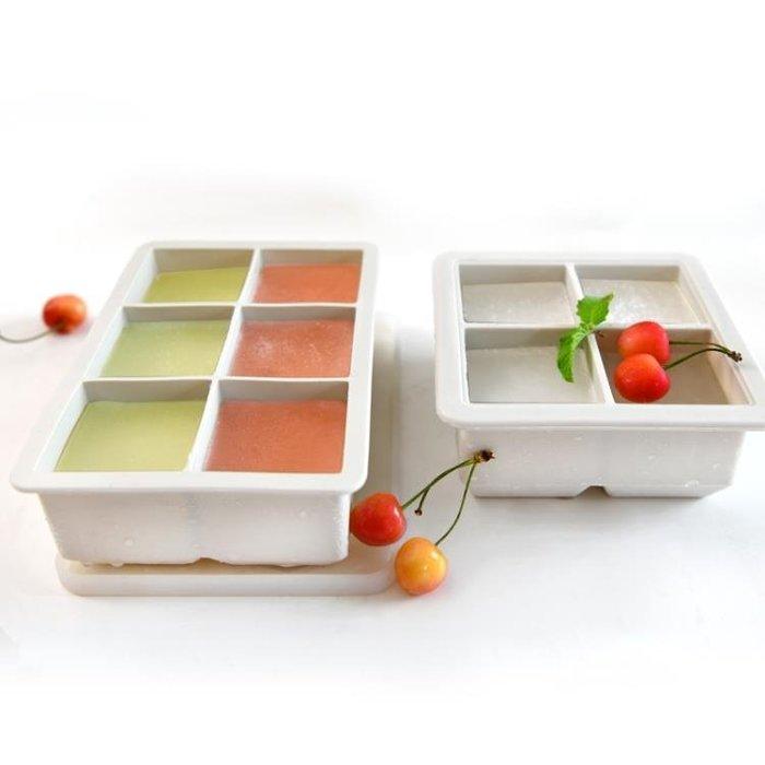 創意硅膠冰格大塊自製冰盒家用冰箱凍冰塊模具嬰兒方塊輔食盒帶蓋LSHA18440