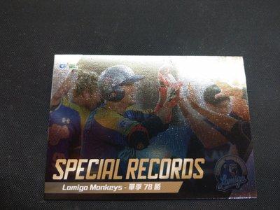 2018發行 2017 中華職棒 職棒28年 球員卡 lamigo 桃猿隊 bbm 火腿 王柏融 特殊紀錄卡 307