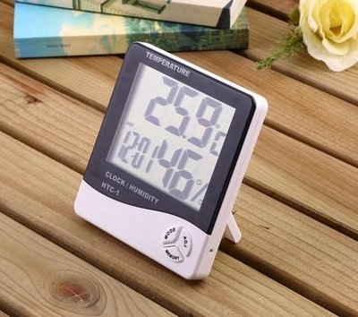 【TuPP雜貨窩】HTC-1 室內 電子溫溼度計 溫度計 濕度計 兩用 鬧鐘 保溫燈 UV燈 爬蟲 兩棲