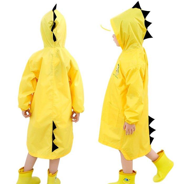 寶寶兒童雨衣女童男童幼兒園學生小孩小童雨披秋冬2-8歲卡通恐龍