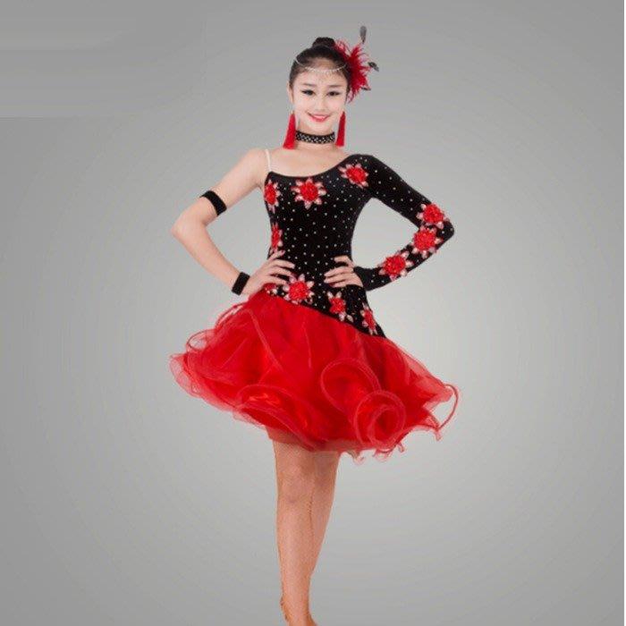 5Cgo 【鴿樓】含稅會員有優惠536913157728拉丁舞服比賽連衣裙廣場舞練習裙舞衣國標舞蹈服恰恰舞蹈服舞衣舞裙