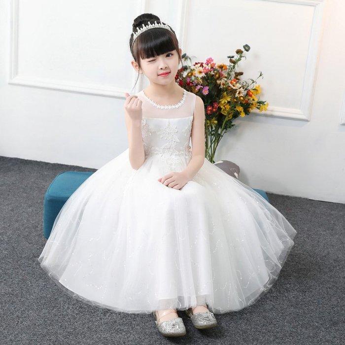 表演服 洋裝 禮服 公主裙 女童春裝洋氣裙子公主裙蓬蓬紗韓版背心兒童寶寶 連身裙