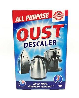英國進口/ 歐洲製造 Oust 多用途 除垢劑 ( 每份3包 : 也適用 水垢,茶垢,咖啡垢)