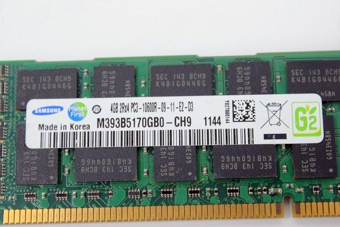 【開心驛站】二手SAMSUNG DDR3L 1333 ECC 4G M393B5170GB0-CH9伺服器記憶體