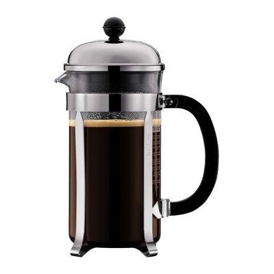 丹麥 Bodum 銀色-1928-16US4 1L 8 cup CHAMBORD Coffee Maker 法式濾壓壺