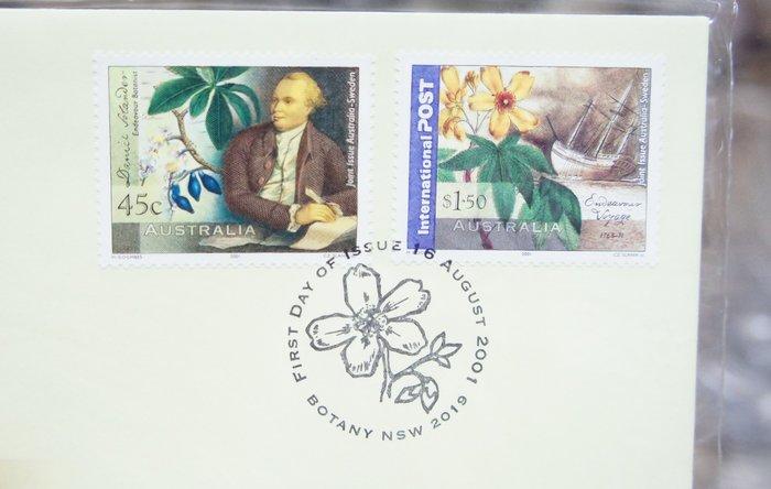 (全新) 2001年-澳洲-人像紀念 - 首日封/郵票