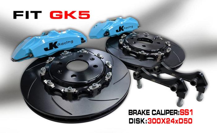 JK Racing SS1 前大四活塞對應 330mm 兩片式碟盤  HONDA CIVIC 8代 用