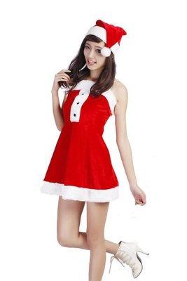 紅色 聖誕節 聖誕帽 聖誕女郎 連身裙 化妝舞會派對服 角色扮演 制服 PARTY COSPLAY CHRISTMAS X111
