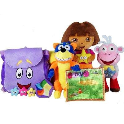 (30公分DORA+書包)愛探險的DORA朵拉毛絨玩具 朵拉玩具 正版 公仔玩偶娃娃 dora生日禮物