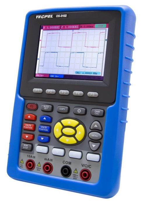 TECPEL 泰菱 》OS-3102 100MHz 掌上型 數位 示波器 +三用電錶 掌上型示波器 送32G隨身碟
