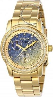 展示品 Invicta 23822 Angel Glam Quartz Multi Function Crystal Accented Women's