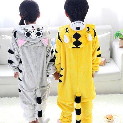好物多商城 卡通動物起司貓演出服老虎連體衣兒童寶寶表演服