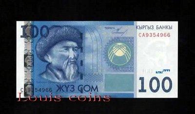 【Louis Coins】B216-KYRGYZSTAN--2009 & 2016吉爾吉斯紙幣100 Som