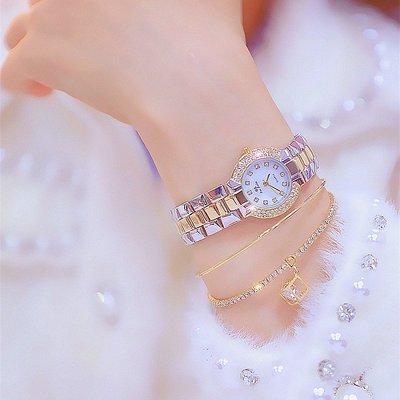 薇安手錶集市~手錶女細帶小巧鑲鉆小錶盤潮流氣質簡約學生防水滿鉆女錶bs正品
