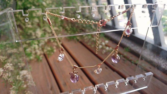 ~水晶花園~ 紫黃晶手錬
